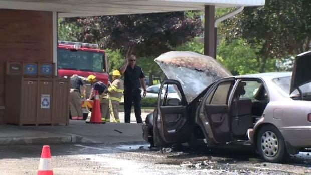 Tim Hortons car fire