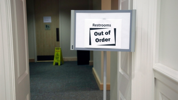 Out of order greece 39 s parliament police banned from for Bathroom out of order