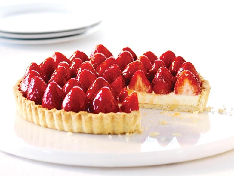 BC strawberry flan