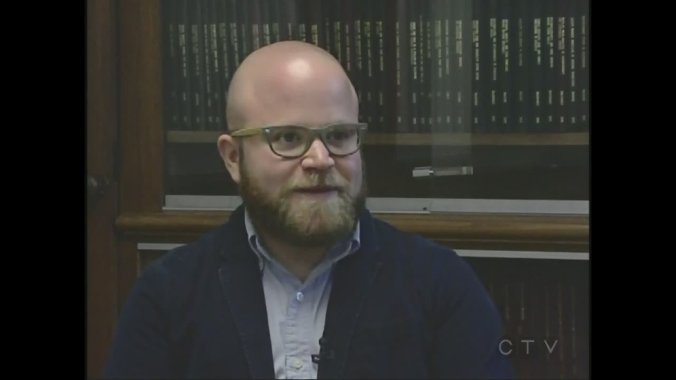 Western University researcher Aydem Scheim discusses a new study on reducing suicide among transgender adults in London, Ont. on Monday, June 8, 2015. (Wayne Jennings / CTV London)