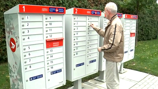 Protesters Delay Canada Post Community Mailbox