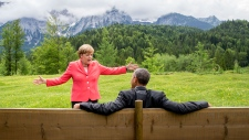 Merkel and Obama at G7 summit in Germany