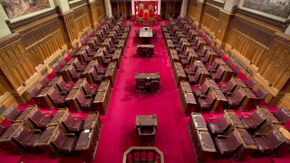 The Senate chamber on Parliament Hill is seen May 28, 2013. (Adrian Wyld / THE CANADIAN PRESS)