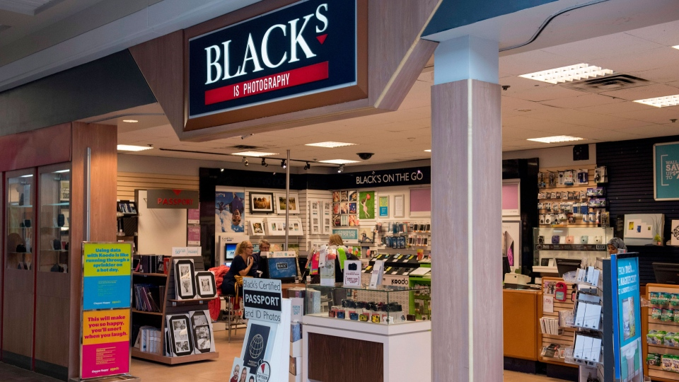 A Blacks photo store is shown in Ottawa on Tuesday, June 9, 2015. (Justin Tang / THE CANADIAN PRESS)
