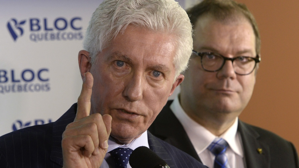 Bloc Quebecois Leader Gilles Duceppe speaks at a news conference in Montreal on Wednesday, June 10, 2015. (Ryan Remiorz / THE CANADIAN PRESS)