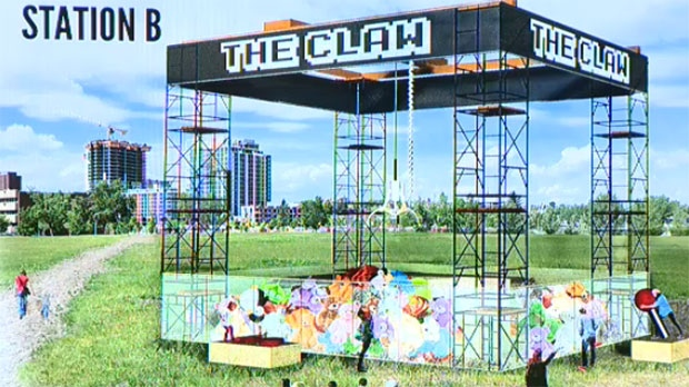A giant sandbox takes centre stage and is based on the classic Claw game.