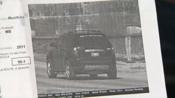 A Winnipeg man hit with a $391 photo radar ticket plans to take his case to court because he claims the picture on the ticket doesn't match the neighbourhood where police allege the infraction happened.
