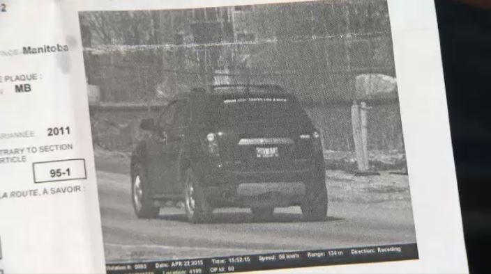 How To Fight A Speeding Ticket >> Winnipeg man claims photo radar ticket doesn't match actual location | CTV News Winnipeg