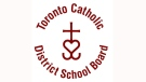 The Toronto Catholic District School Board logo is pictured above.