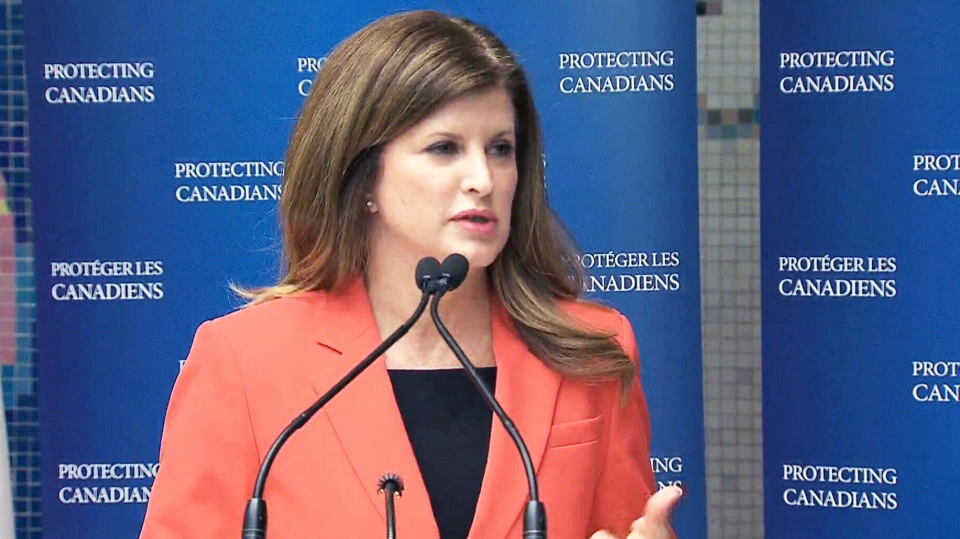 Health Minister Rona Ambrose speaks on Thursday, June 11, 2015.