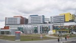 The new MUHC superhospital is shown in Montreal, Sunday, April 26, 2015, on its first day of opening. THE CANADIAN PRESS/Graham Hughes