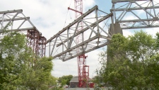 50-ton chunk of steel superstructure coming down.