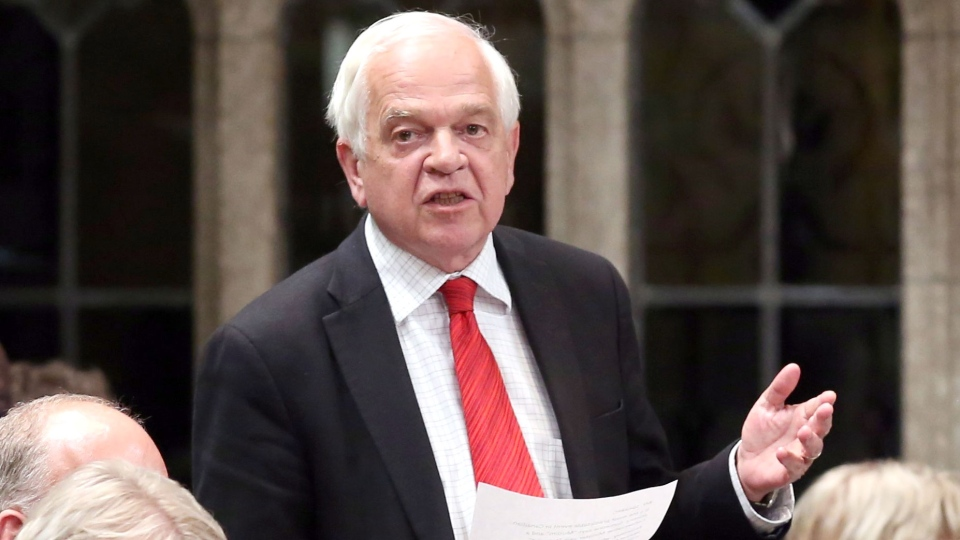 Liberal MP John McCallum stands in the House of Commons during question period on Parliament Hill in Ottawa on Thursday, June 11, 2015. (Fred Chartrand / THE CANADIAN PRESS)