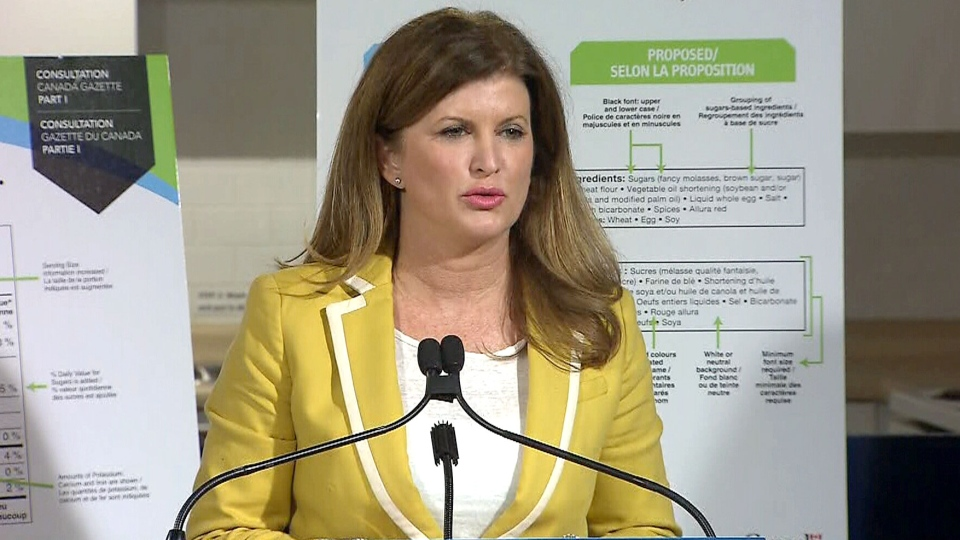 Health Minister Rona Ambrose announces proposed new food labelling rules on June 12, 2015.