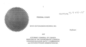 Save Our Saugeen Shores - Judicial Review
