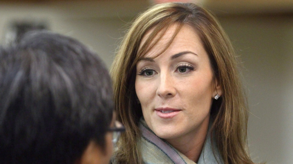 In this file photo, Amanda Lindhout attends a reception held in her honour by the Alberta Somali-Canadian community in Calgary on Feb. 21, 2010. (Larry MacDougal / THE CANADIAN PRESS)
