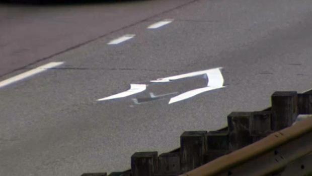 HOV lane markers peeling off