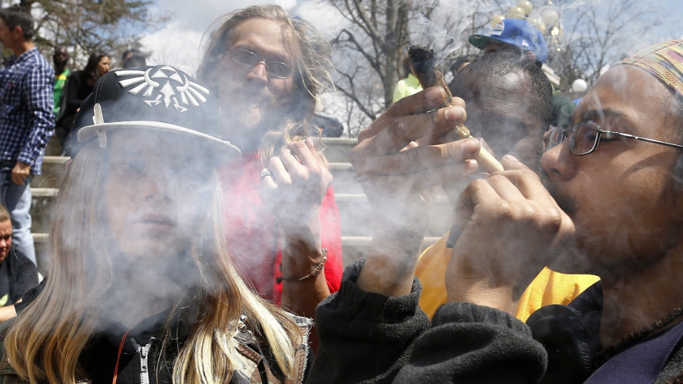 The annual 4/20 marijuana festival in Denver, Colorado, on April 18, 2015. (AP / Brennan Linsley)