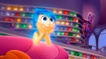 In this image released by Disney-Pixar, the character Joy, voiced by Amy Poehler, appears in a scene from 'Inside Out.' The movie releases in theatres on June 19, 2015. (Disney-Pixar via AP)