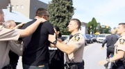 Fight breaks out outside courthouse