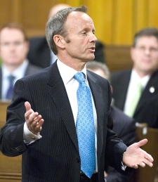 Public Safety Minister Stockwell Day responds to a question during Question Period in the House of Commons in Ottawa on April 26, 2007.(CP / Tom Hanson)
