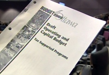 City of Ottawa staff released their draft budget for 2009, Tuesday, Nov. 4, 2008.
