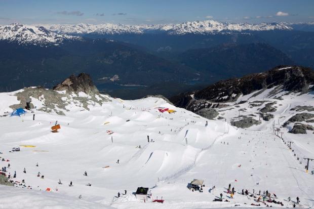 Blackcomb glacier in Whistler