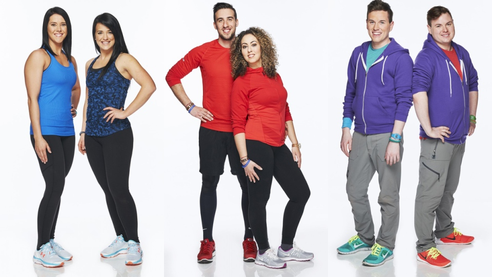 The teams of, left to right, Amanda and Dana, Nic and Sabrina, and Brent and Sean were announced for the upcoming season of 'The Amazing Race Canada' on Tuesday, June 16, 2015.