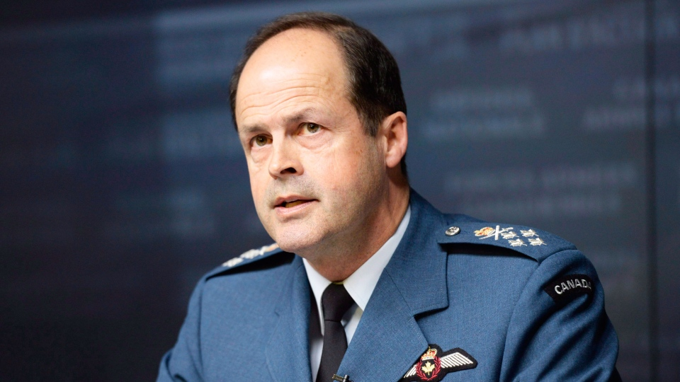 General Tom Lawson, Chief of the Defence Staff, speaks at a news conference in Ottawa on Thursday, April 30, 2015 following the release of an inquiry's report into sexual misconduct in the Canadian Forces. (Adrian Wyld / THE CANADIAN PRESS)