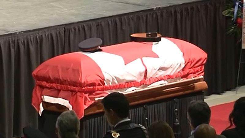 Cst. Woodall's casket