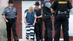 Joyce Mitchell leaves Plattsburgh City Court after her hearing in Plattsburgh, N.Y. on June 15, 2015. Mitchell is charged with helping convicted murderers Richard Matt and David Sweat escape from Clinton Correctional Facility. (Rob Fountain/Press-Republican via AP)