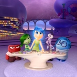 "In this file image released by Disney-Pixar, characters, from left, Anger, voiced by Lewis Black, Disgust, voiced by Mindy Kaling, Joy, voiced by Amy Poehler, Fear, voiced by Bill Hader, and Sadness, voiced by Phyllis Smith appear in a scene from ""Inside Out,"" in theaters on June 19. (Disney-Pixar via AP)"