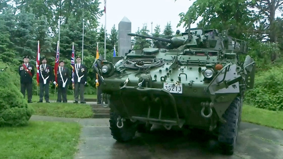 As the Canadian Forces retire the LAV III, the troop carriers are being converted into memorial monuments.