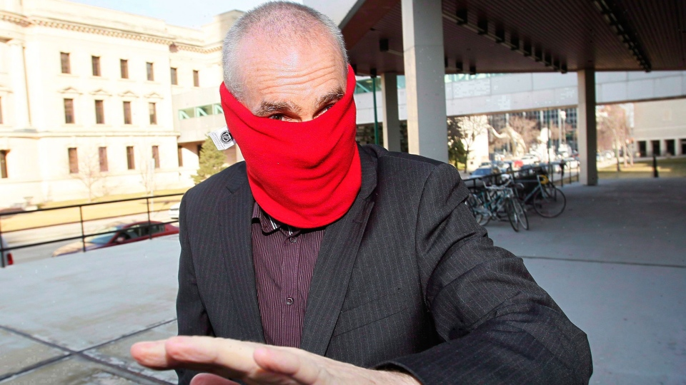 Graham James arrives at court for sentencing in Winnipeg on March 20, 2012. (John Woods / THE CANADIAN PRESS)
