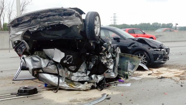 5 vehicle crash on highway 132 ctv montreal news. Black Bedroom Furniture Sets. Home Design Ideas