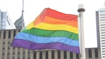A rainbow flag flies at Toronto City Hall in this file photo.