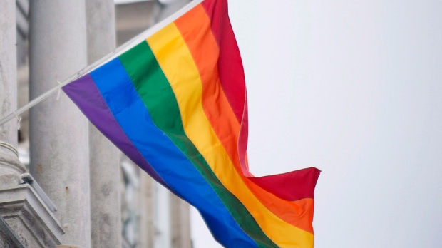 A rainbow flag is seen in this undated file photo.