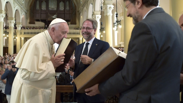 Pope Francis at the Waldensian Church in Italy