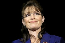 Alaska Gov. Sarah Palin reacts during U.S. Sen. John McCain's concession speech in Phoenix, Ariz., on Tuesday, Nov. 4, 2008. (AP / Chris Carlson)