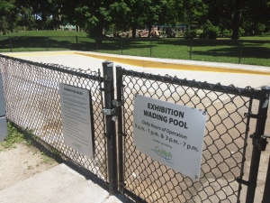 The wading pool at Exhibition Park in Guelph is pictured on Monday, June 22, 2015. (Krista Simpson / CTV Kitchener)