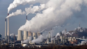 In this Dec. 16, 2009 file photo steam and smoke is seen over the coal burning power plant in Gelsenkirchen, Germany. (Martin Meissner / AP Photo)