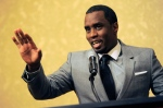 """In this July 26, 2013 file photo, Sean """"Diddy"""" Combs of the new network Revolt TV addresses reporters at the Beverly Hilton Hotel in Beverly Hills, Calif. (Chris Pizzello /Invision /AP)"""