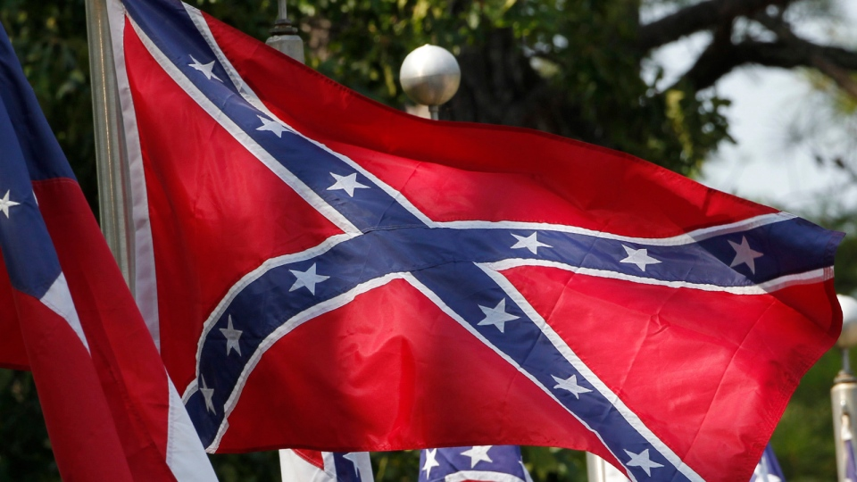 Confederate battle flags fly outside the museum at the Confederate Memorial Park in Mountain Creek, Ala., Tuesday, July 19, 2011. (AP / Dave Martin)