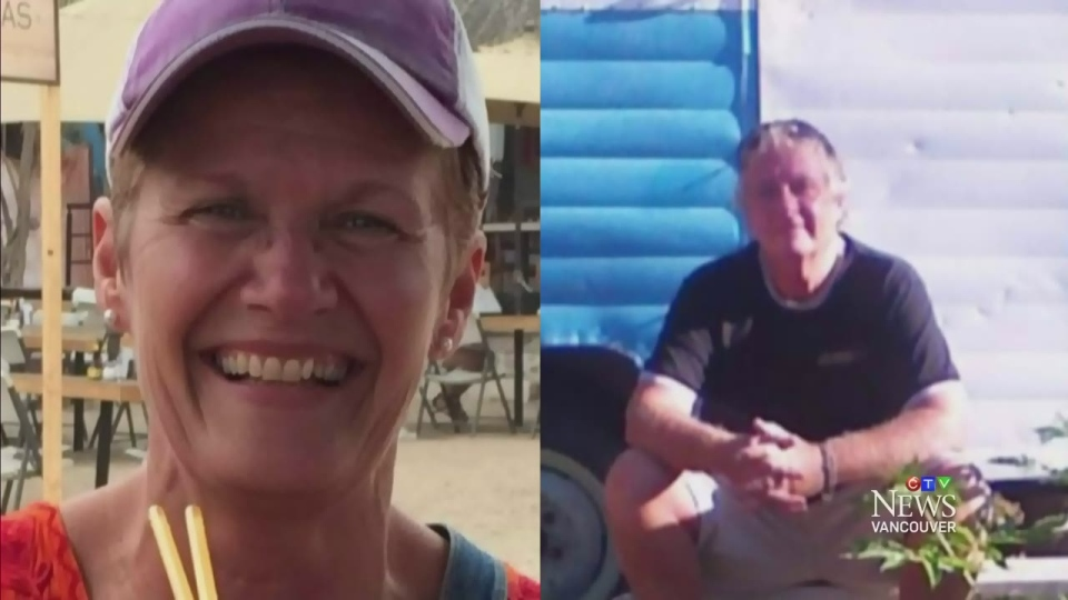 Lynne Carmody (left) and Rick Moynan of North Bay, Ont., were found alive after a week lost in B.C.'s backcountry.