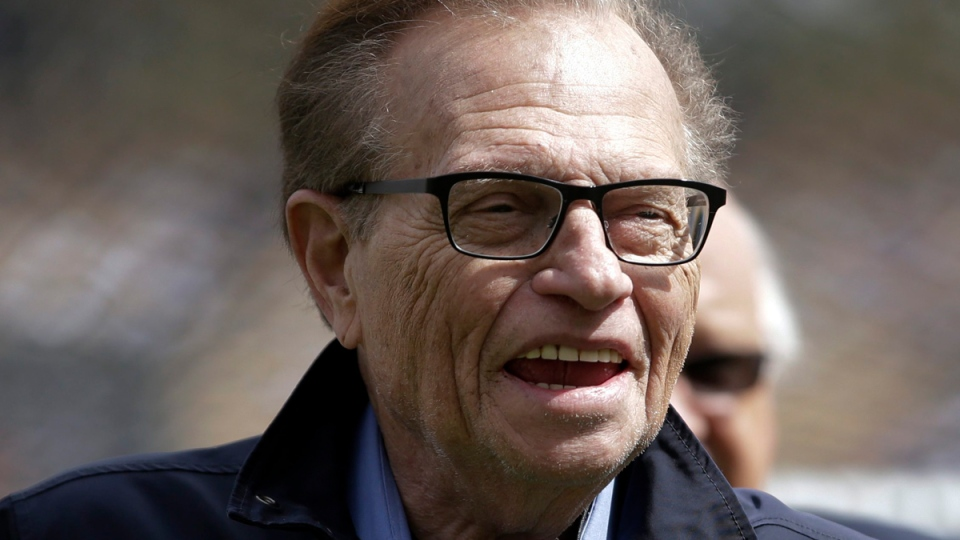 Larry King in Los Angeles, on April 1, 2013. (AP / Jae C. Hong)