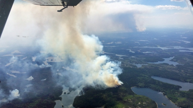 Wildfires burning in northern Saskatchewan