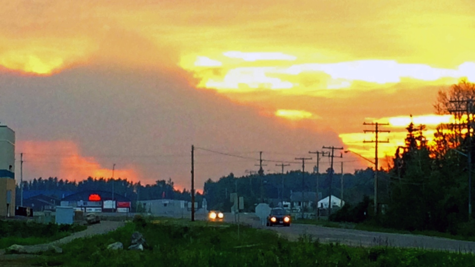 Smoke from wildfires cen be seen from La Ronge