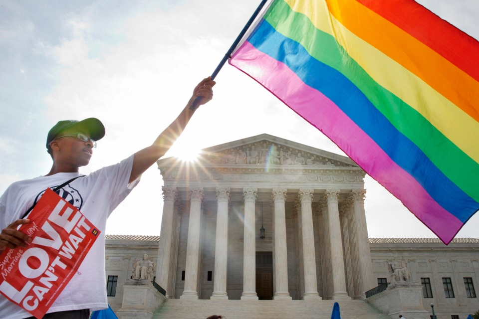 Support for gay marriage at U.S. Supreme Court