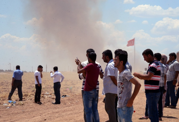 Kurds drive Islamic State fighters from Kobani