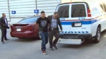 Kevin Rubletz, found guilty of second-degree murder in the stabbing death of Jessica Rae Newman, being escorted to the CPS Arrest Processing Unit on June 26, 2015.